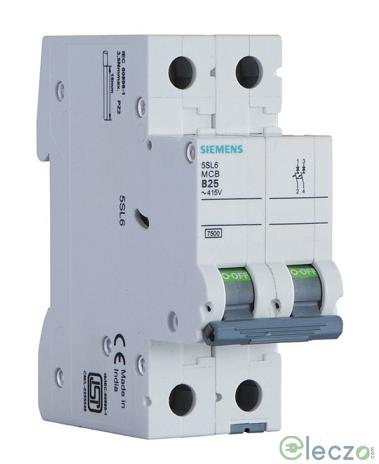 Siemens Betagard 5SL4 MCB 0.5 A, 2 Pole, 10 kA, C-Curve