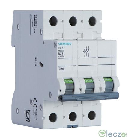 Siemens Betagard 5SL4 MCB 2 A, 3 Pole, 10 kA, C-Curve