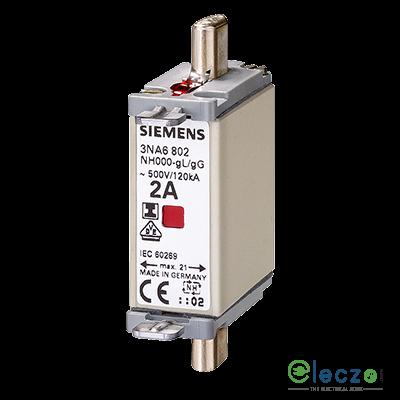Siemens Sentron 3NA HRC Fuse Link 6A, 500VAC, DIN Type, 120kA, Size 000
