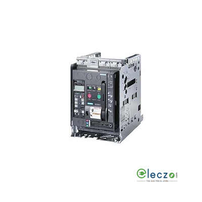 Siemens Sentron 3WT ACB 800 A, 3 Pole, 55 kA, Manual Draw Out, O/L, S/C & E/F, Microprocessor Based ETU37WT