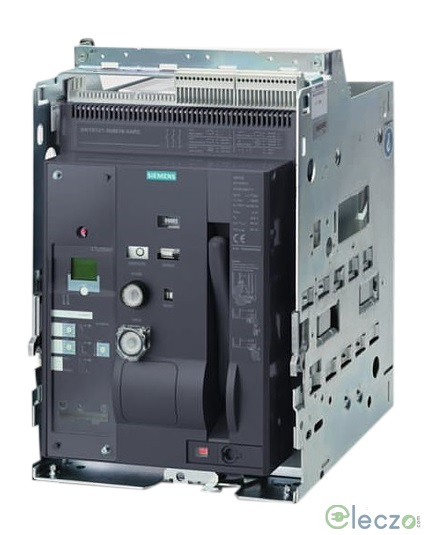Siemens Sentron 3WT ACB 800 A, 3 Pole, 66 kA, Manual Fixed, O/L, S/C & E/F, Microprocessor Based ETU37WT