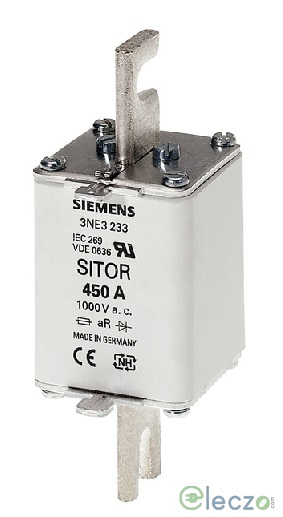 Siemens Sentron Sitor 3NE3 Fuse For Semiconductor Protection 160 A, 1000 V AC, Size 1