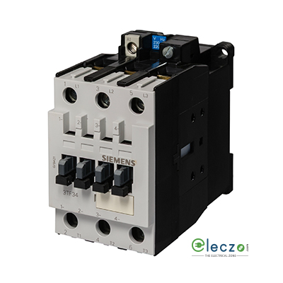 Siemens Sicop 3TF Capacitor Switching Power Contactor 16 KVAr, 3 Pole, 230VAC