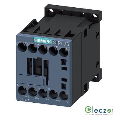 Siemens Sirius 3RH2 Contactor Relay (Auxiliary Contactor) Screw Terminal 10A, 3 NO + 1 NC, 110VAC