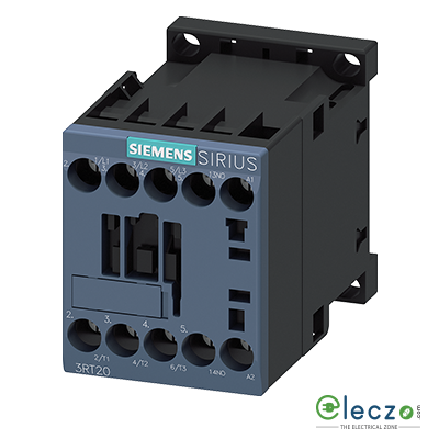 Siemens Sirius 3RT2 Power Contactor Screw Terminal 7A, 3 Pole, 230VAC, 1 NC, AC3 Duty