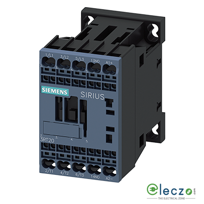 Siemens Sirius 3RH2 Contactor Relay (Auxiliary Contactor) Spring Loaded Terminal 10A, 3 NO + 1 NC, 24VDC