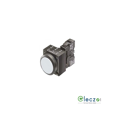 Siemens Sirius ACT Illuminated Push Button Actuator With Integrated LED 22 mm, White, 1 NO + 1 NC, 24 V AC/DC, Flush Type