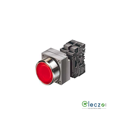 Siemens Sirius ACT Illuminated Push Button Actuator With Integrated LED 22 mm, Red, 1 NO + 1 NC, 24 V AC/DC, Flush Type