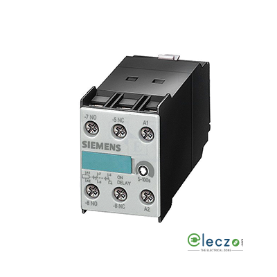 Siemens Sirius Solid State Timer Block, On Delay, 24 V AC/DC, 1 NO + 1 NC, 0.05 to 1 Sec, Suitable For 3RT1 Contactor Size S2-S12