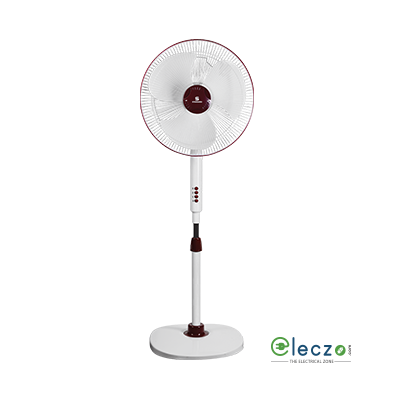 "Standard Alfa High Speed Pedestal Fan 400 mm (16""), White"