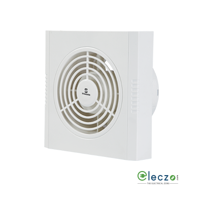 "Standard Refresh Air - DXW Exhaust Plastic Window Ventilation Fan 100 mm (4""), White"