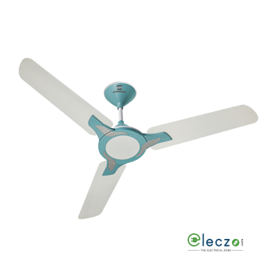 "Standard Leafer Special Finish Ceiling Fan 1200 mm (48""), Pearl-White Baby Blue, 3 Blade"