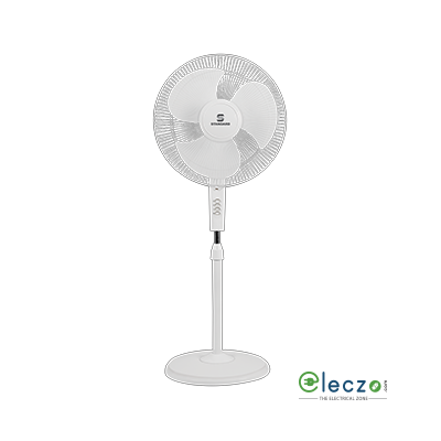 "Standard Sailor High Speed Pedestal Fan 400 mm (16""), White"