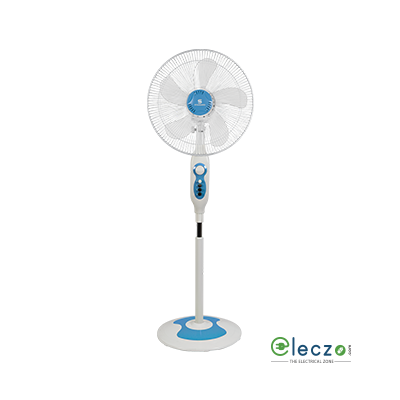 "Standard Super 5 Leaf Super Pedestal Fan 16, 400 mm (16""), Cool Blue"