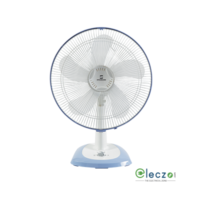 "Standard Super 5 Leaf Super Table Fan 01, 400 mm (16""), White"