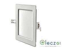 Syska Edge Series LED Slim Down Light 15 W, Cool White, 6'', Square