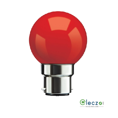 Syska Cygnus Series LED Bulb B-22 Base 0.5 W, Red