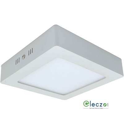Syska LED Surface Down Light (Economy Range) 6 W, Cool White, Surface Mounted, Square