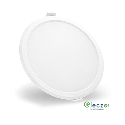 Syska RDL Series LED Slim Recessed Panel Light 5 W, Warm White, Recessed Mounted, Round