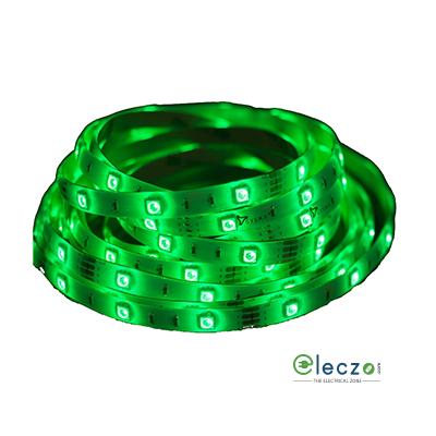 Syska LED Strip Light 3528 - IP65, Green, 5 Mtr