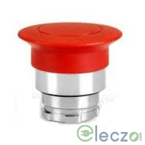 Teknic Metallic Series Mushroom Push Button Actuator 22.5 mm, Red, Momentary Type