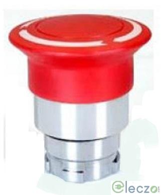 Teknic Metallic Series Mushroom Push Button Actuator 22.5 mm, Black, Latching Type