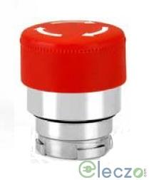 Teknic Metallic Series Mushroom Push Button Actuator 22.5 mm, Red, Latching Type