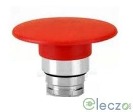 Teknic Metallic Series Mushroom Push Button Actuator 22.5 mm, Red, Momentary Type