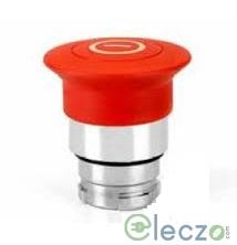 Teknic Metallic Series Mushroom Push Button Actuator 22.5 mm, Black, Push-Pull Type