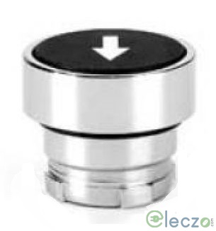 Teknic Metallic Series Momentary Push Button Actuator 22.5 mm, Blue, Flush With Arrow Marking Type