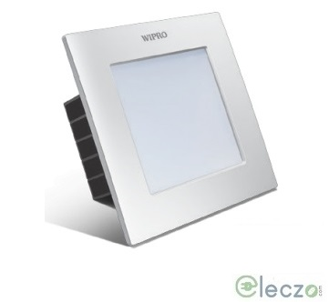 Wipro Garnet LED Down Light 6 W, Cool White, Square
