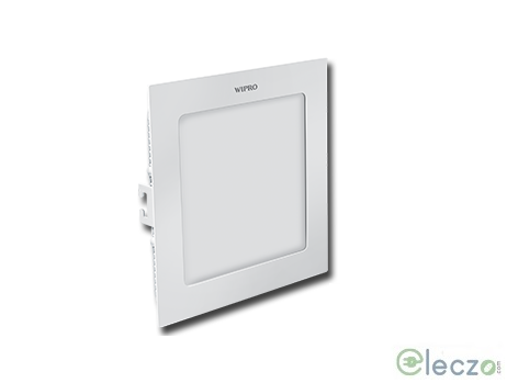 Wipro Garnet Slim Panel Light 12 W, Cool White, Ceiling Mounted, Square