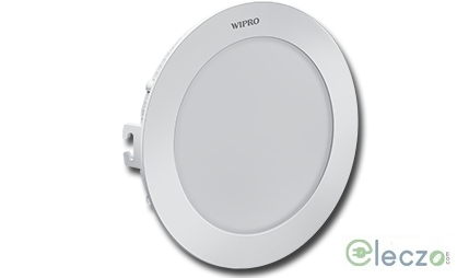 Wipro Garnet Slim Panel Light 16 W, Warm White, Ceiling Mounted, Round