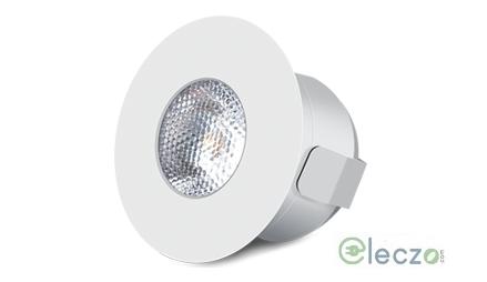 Wipro Garnet LED Spot Light 2 W, Warm White, Round