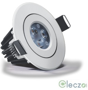 Wipro Garnet Plus LED Down Light 6 W, Warm White, Round